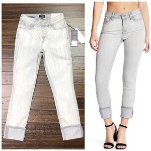 NYDJ Alina Wide Cuff Skinny Ankle Reims Jeans 0